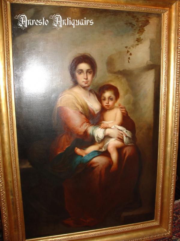 Ref. 21 – Schilderij Madonna met kind