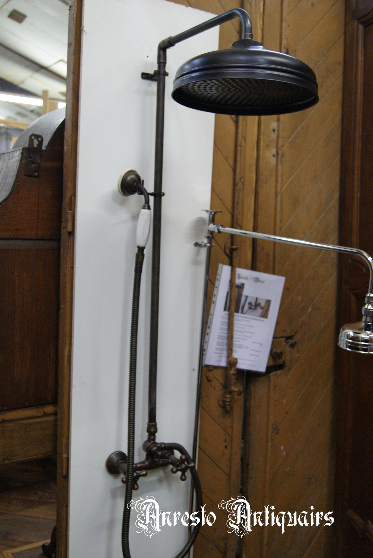 Ref. 08 – Antieke douchekraan met handsproeier, oude douchekraan met handsproeier