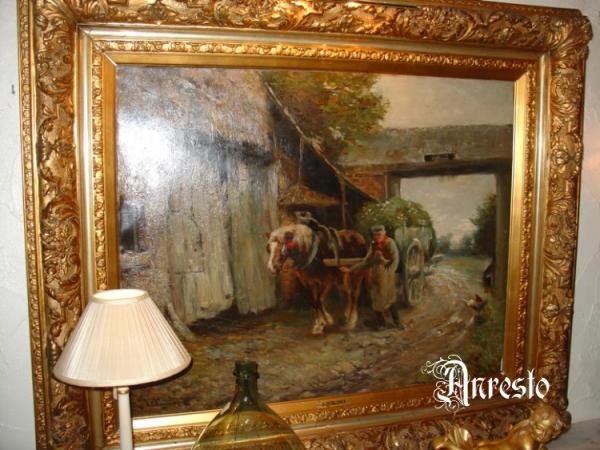 Ref. 11 - Impressionistisch schilderij j Deklerck 1880