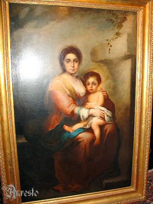Ref. 21 - Schilderij Madonna met kind 18e eeuw