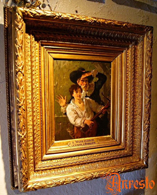 Ref. 16 - La lecon d'arbalete A. Markelbach 19e eeuws