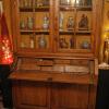 Ref. 16 – Antieke eikenhouten vitrinekast secretaire kast