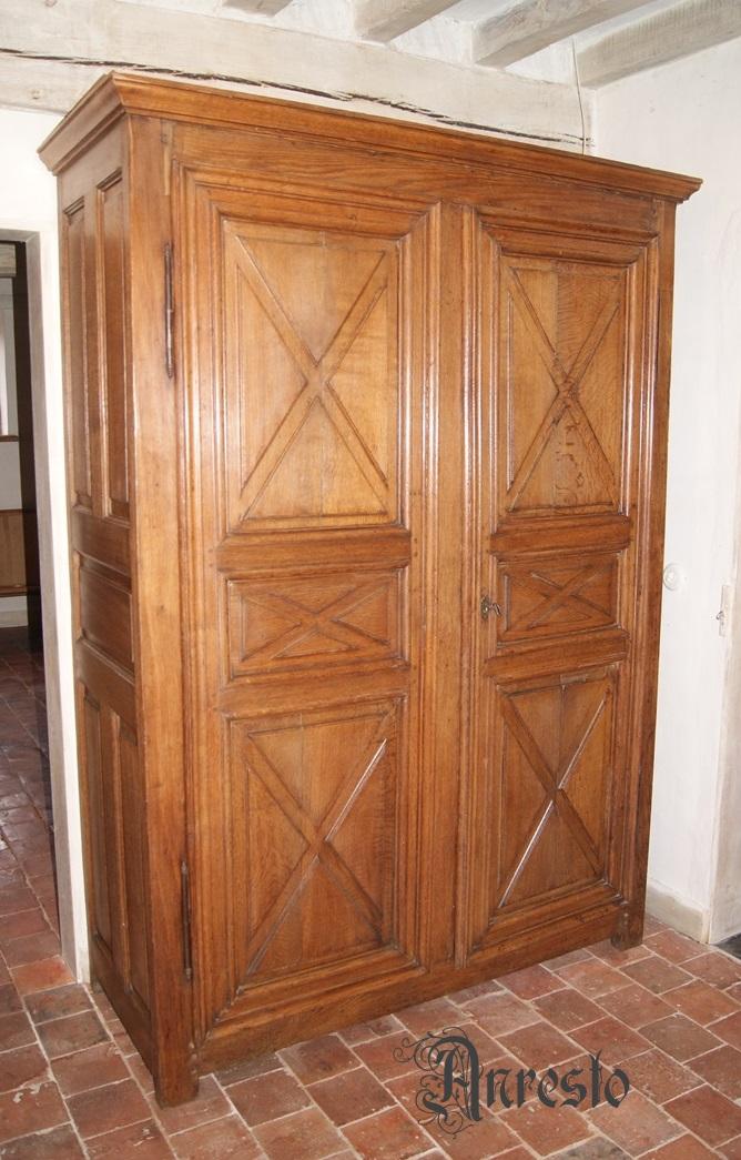Ref. 10 - Antieke Franse garderobe kast 18e eeuws