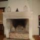 Ref. 06 – Antieke Franse landelijke kalkzandstenen console schouw foto 1