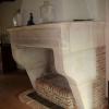 Ref. 06 – Antieke Franse landelijke kalkzandstenen console schouw foto 2
