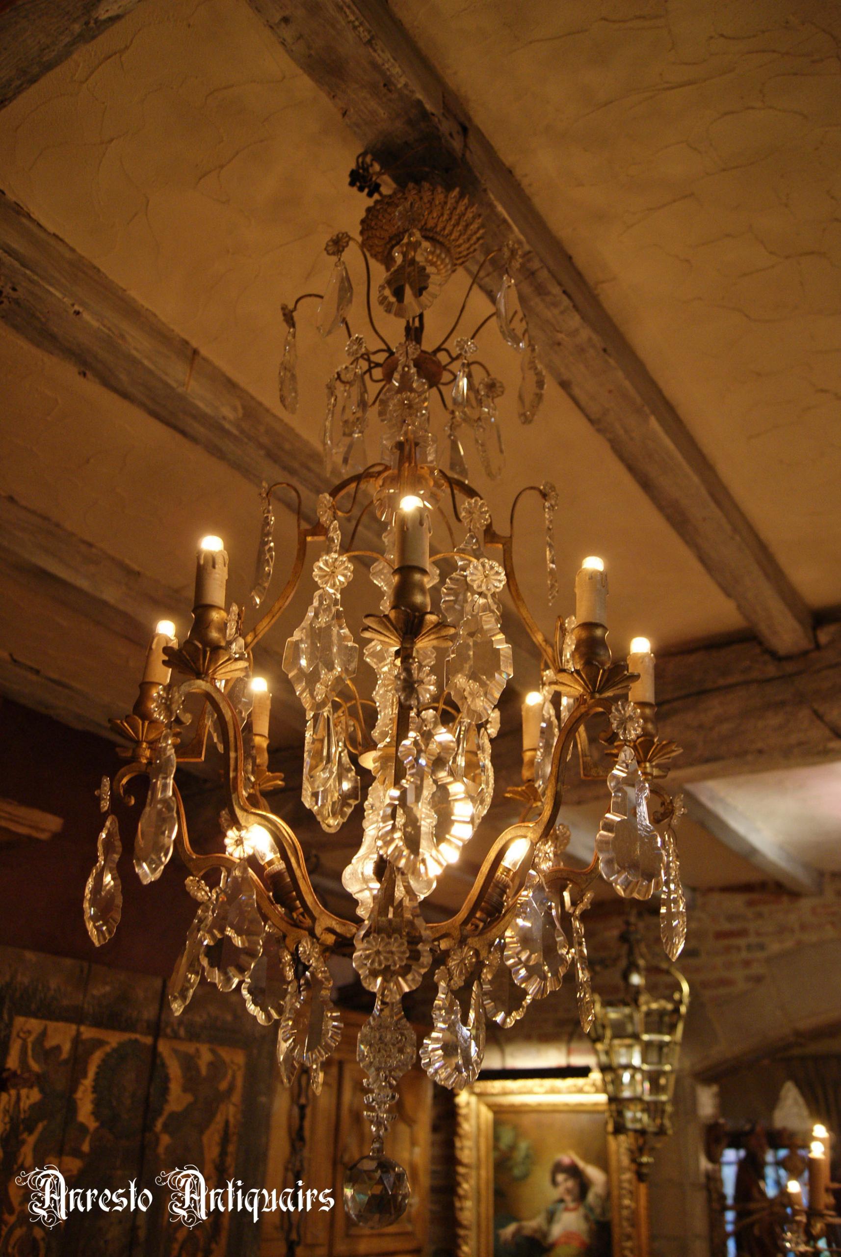 Ref. 20 – Antieke Franse hanglamp, antieke Franse luster