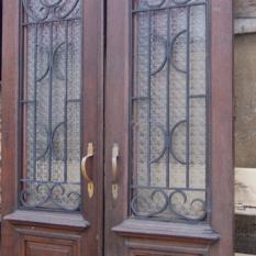 Dubbele buitendeur in eik 19e eeuws