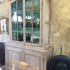 Ref. 23 - Antieke landelijke vitrinekast, oude landelijke vitrinekast
