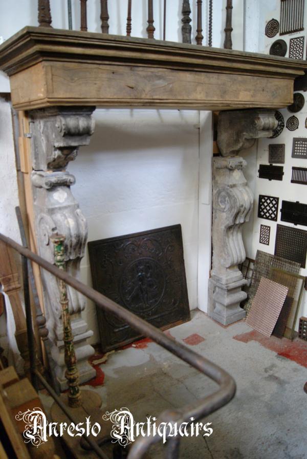 Ref. 02 – Antieke Vlaamse schouw, oude Vlaamse schouw, antieke stenen schouw