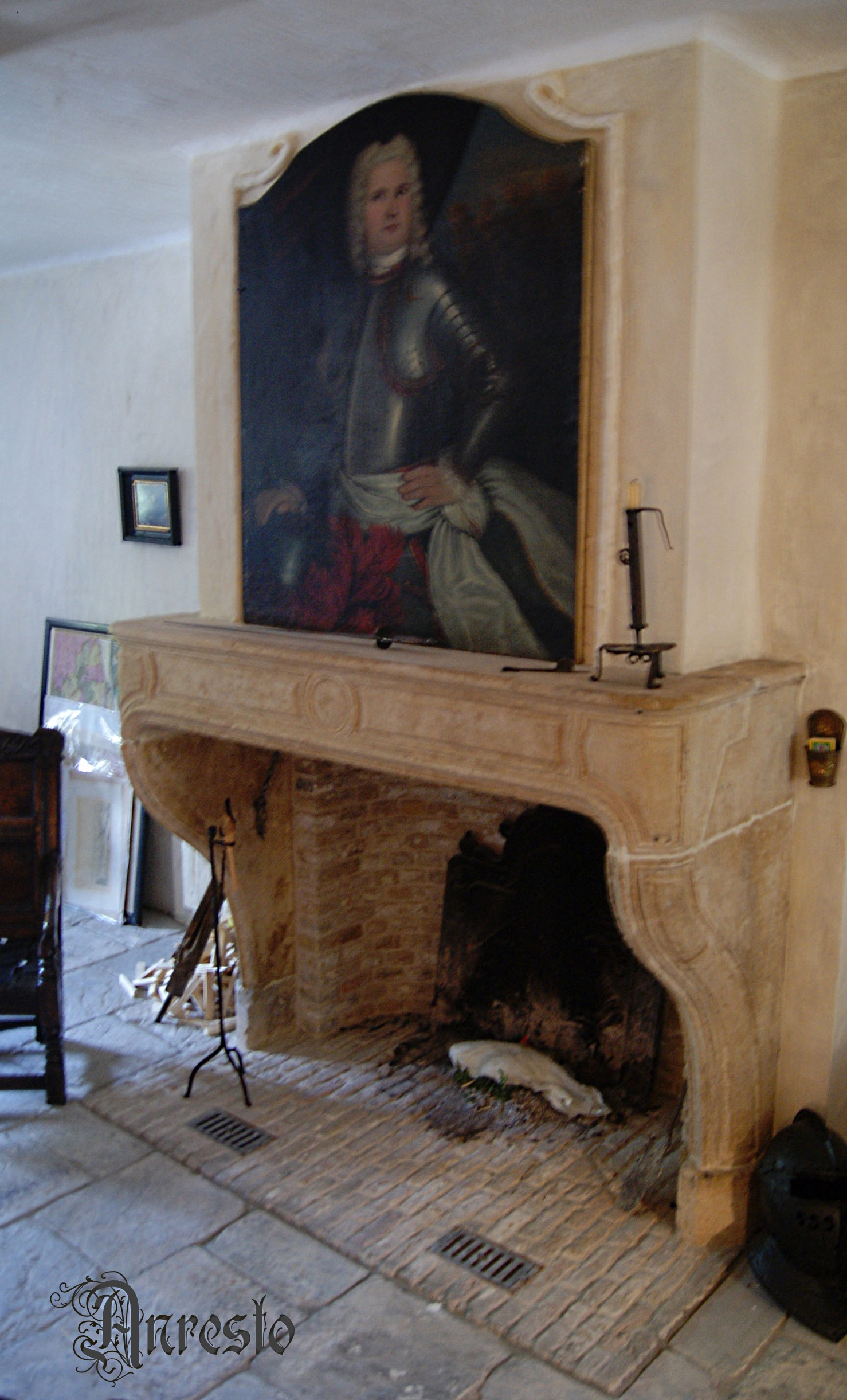 Franse schouw Louis XIV kalkzandsteen