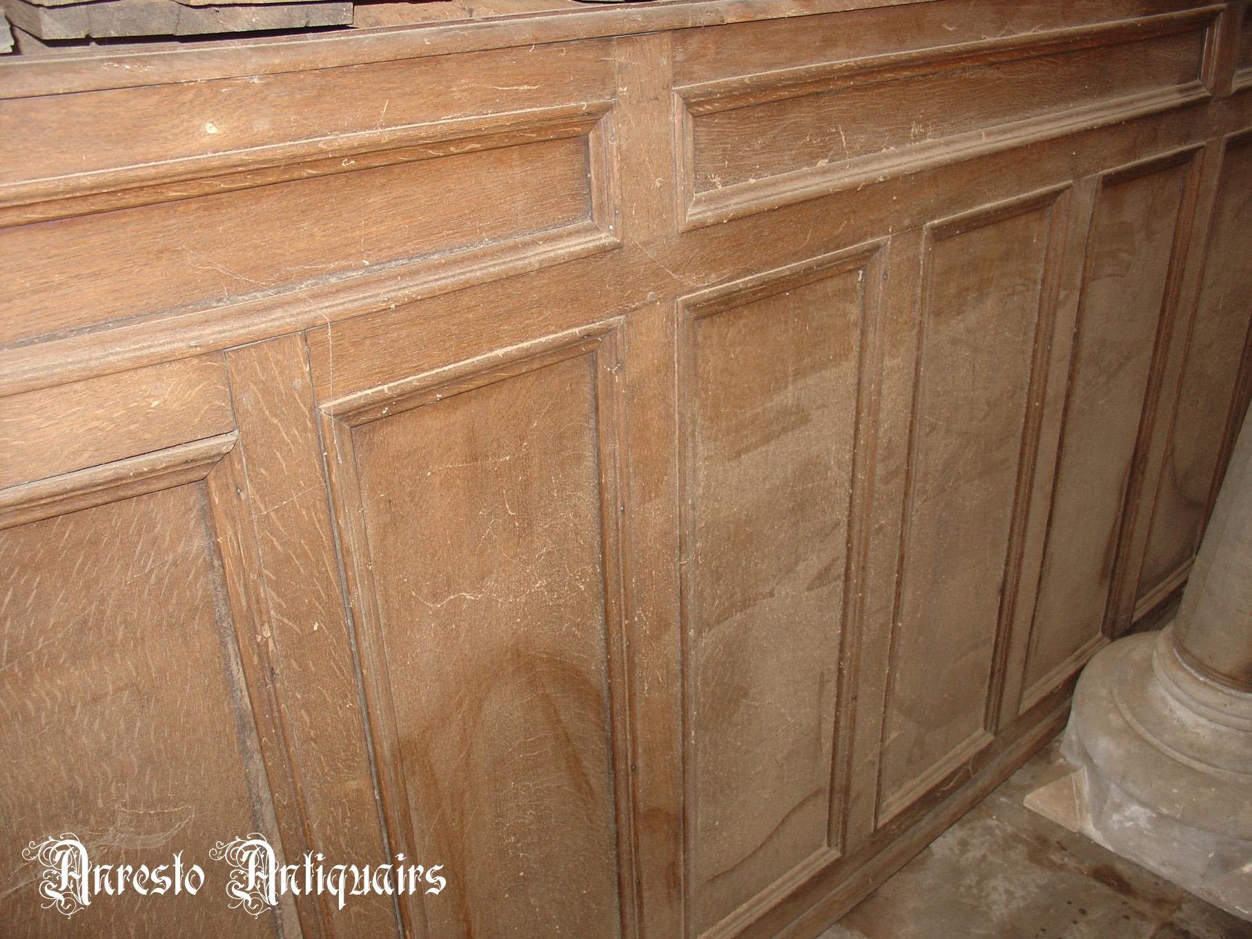 Ref. 10 – Antieke eikenhouten landelijke lambrisering, oude houten wandpanelen