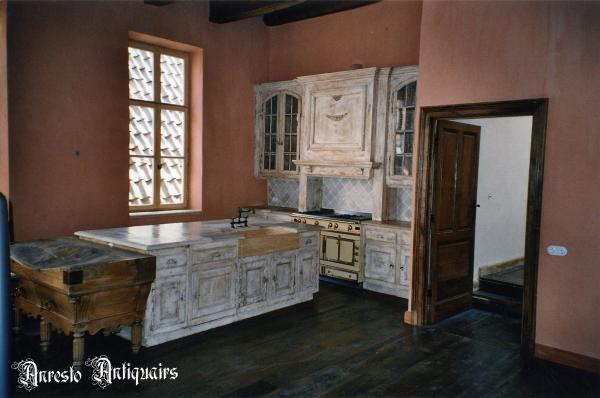 Ref. 10 – Massief eiken kasteel keuken