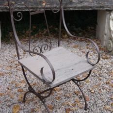 Ref. 14 – Smeedijzeren tuinstoel foto 1