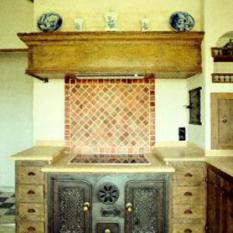 Ref. 01 – Antieke cuisinière Bourgondisch tablet - Anresto keuken ontwerp