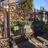 Ref. 21 – Antieke smeedijzeren 2-vleugelige poort, gesmede ijzeren tuinpoort foto 3