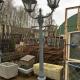 Ref. 31 – Oude gietijzeren lantaarnpaal, oude ijzeren tuinlantaarn