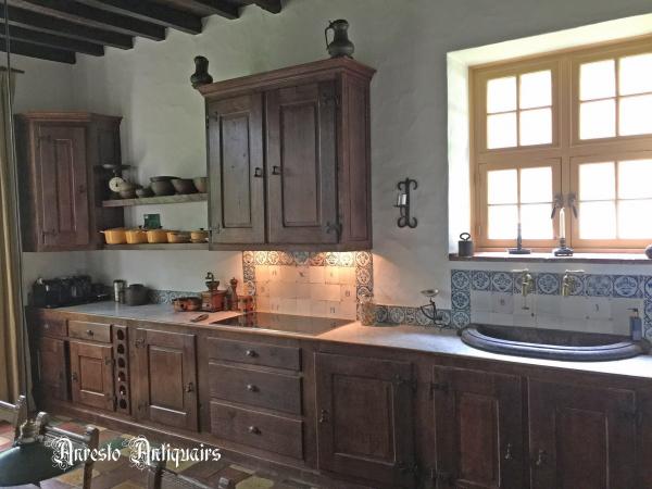 Ref. 35 – Landelijke keuken in massieve eik foto 1
