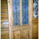Ref. 07 – Eiken buitendeur met 2 smeedijzeren panelen