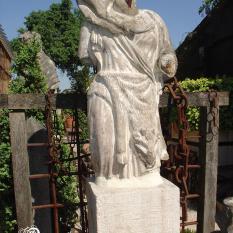 Ref. 12 - Antieke stenen torso, oud kalkzandstenen tuinbeeld