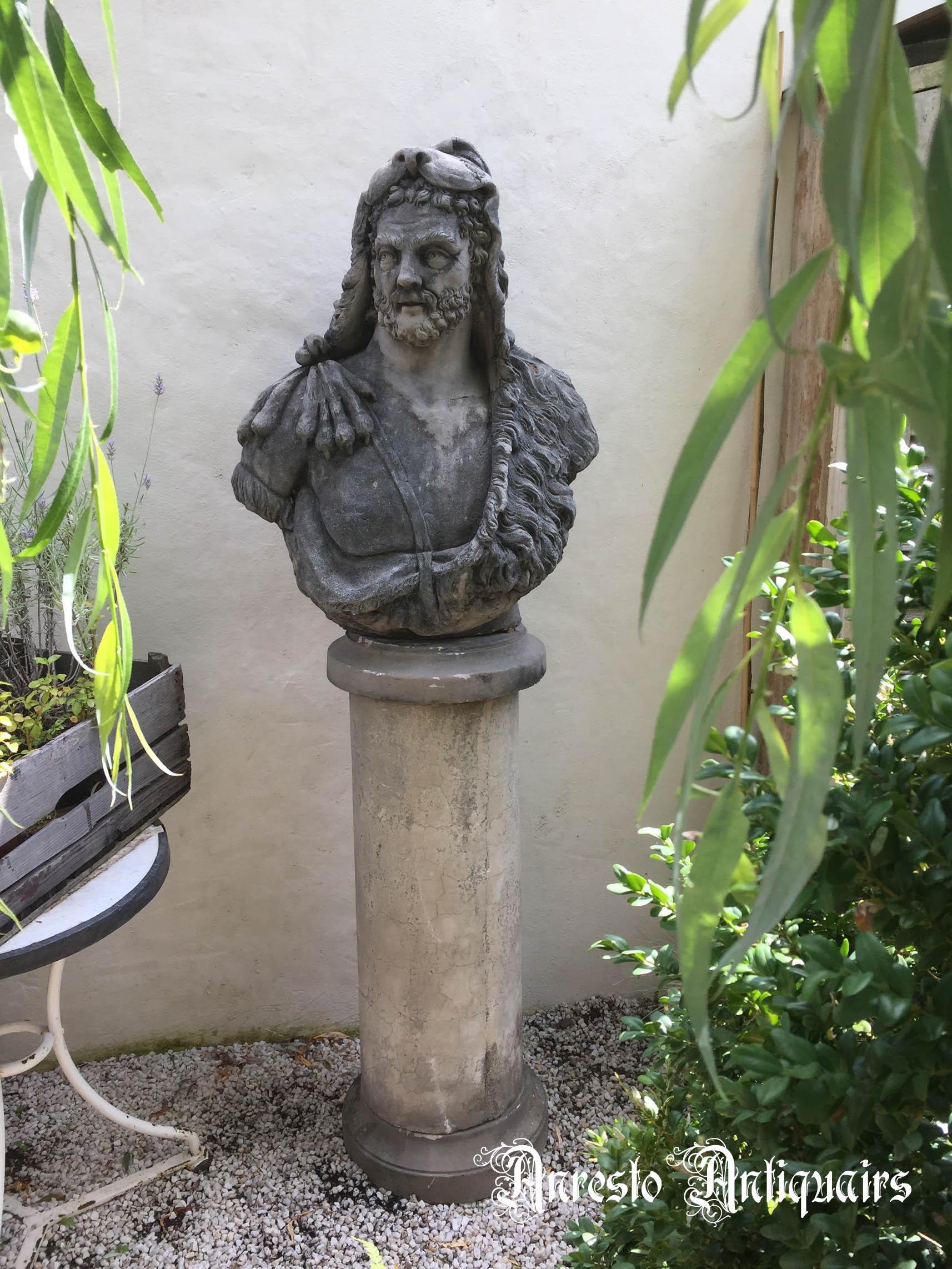 Ref. 20 – Antiek tuinbeeld Hercules, oud tuinbeeld Hercules