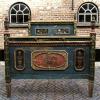 Ref. 43 – Exclusief antiek houten bed, antiek beschilderd houten bed foto 3