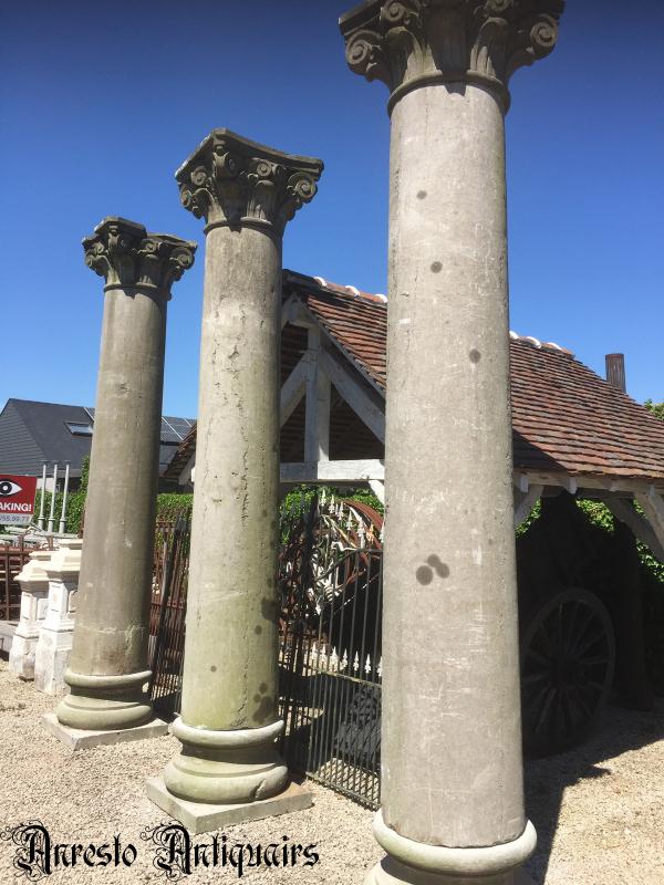 Ref. 14 – Antieke blauwstenen kasteelzuilen foto 4