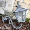 Ref. 43 – Antieke Franse gietijzeren muurlantaarns, oude ijzeren hanglantaarns foto 2