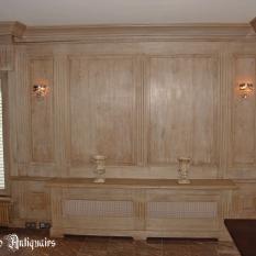 Ref. 17 – Engelse houten lambrisering, Engelse houten wandpanelen