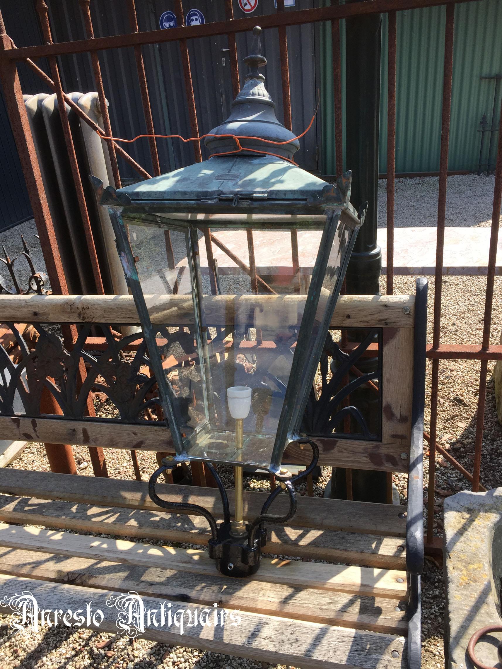 Ref. 45 – Antieke Engelse lantaarnkap, oude Engelse tuinlantaarn