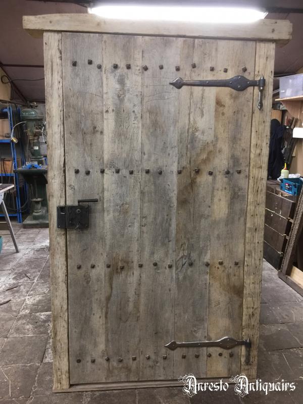 Ref. 75 – Landelijke houten hoevedeur, oude landelijke buitendeur