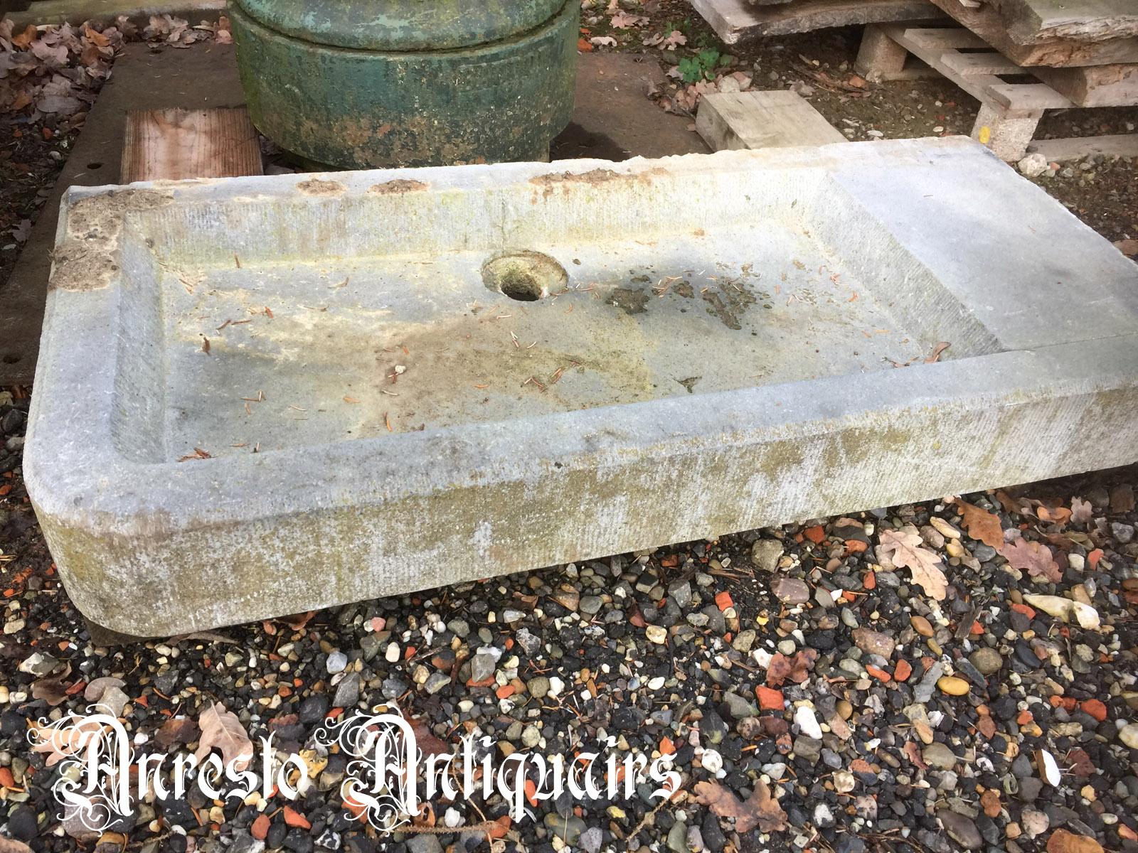 Ref. 36 – Antieke arduinen spoelbak, oude arduinen wasbak