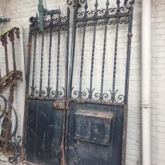 Ref. 47 – Antieke smeedijzeren Ardeense tuinpoort, oude landelijke Ardeense poort