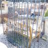 Ref. 49 – Antieke landelijke 2-vleugelige poort met 2 zijstukken foto 2