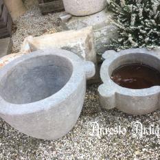 Ref. 53 – Antieke stenen vijzels, oude stenen vijzelpot