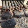 Ref. 55 – Antieke gietijzeren vergaarbakken met regenafvoerpijpen foto 2