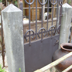 Ref. 58 – Antieke smeedijzeren Luxemburgse tuinpoort