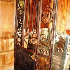 Ref. 79 – Antieke smeedijzeren buitendeur, antieke ijzeren inkomdeur
