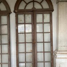 Ref. 80 – Antieke eikenhouten porte-fenêtre ramen, oude houten raam deuren