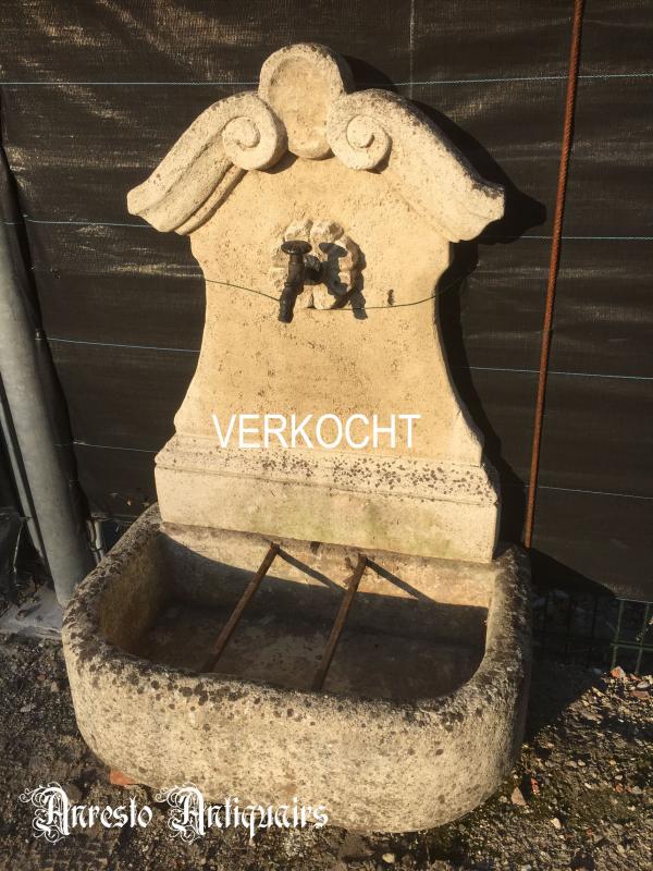 Ref. 13 – Barok muurfontein, stenen tuinfontein