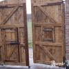 Ref. 20 – Exclusieve zware eikenhouten poort foto 4