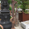 Ref. 83 – Antieke Ardeense gietijzeren stadspomp, oude ijzeren waterpomp foto 3