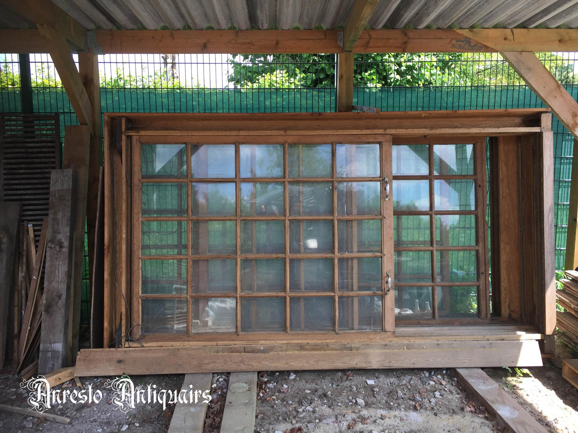 Ref. 17 – Oude houten guillotineramen