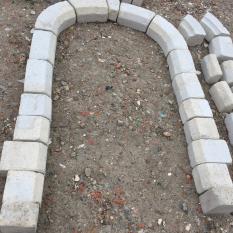 Ref. 71 – Antieke kalkzandstenen portiek, kalkzandstenen deuromlijsting