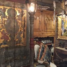 Ref. 38 – Venetiaanse gietijzeren lantaarnlamp foto 1