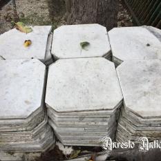 Ref. 47 – Antieke Carrara marmeren vloeren foto 1