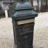 Ref. 64 – Antieke gietijzeren brievenbus, antieke gietijzeren postbus foto 3