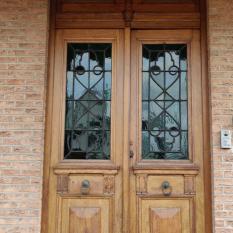 Ref. 22 – Dubbele eikenhouten buitendeur foto 1