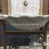 Ref. 42 – Antieke witte marmeren wasbak in schelpenvorm foto 2
