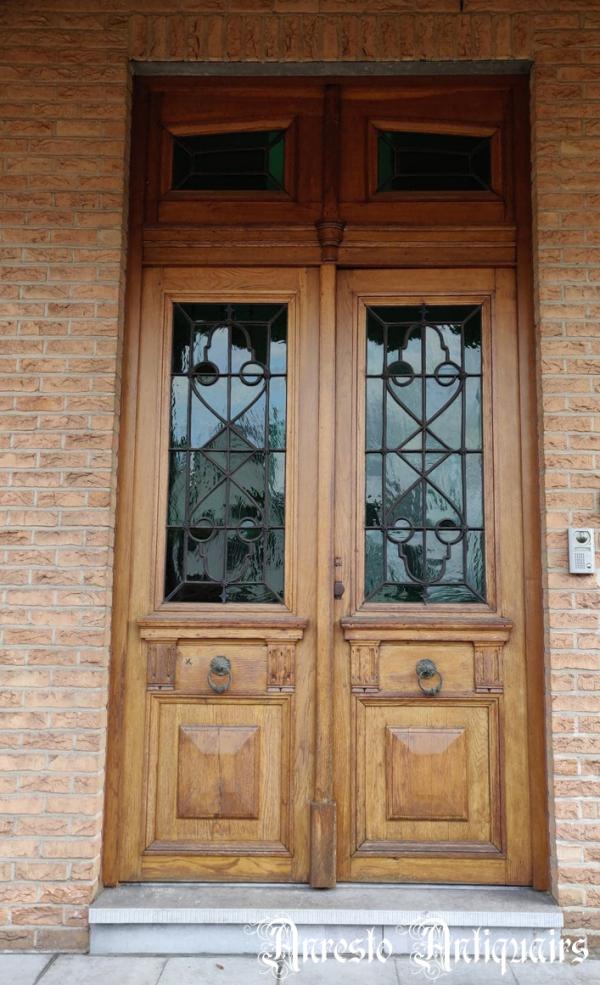 Ref. 89 – Dubbele eikenhouten buitendeur foto 1