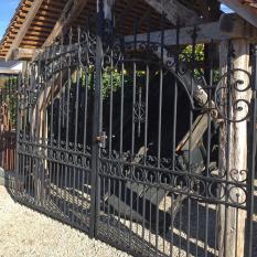 Ref. 83 – Antieke smeedijzeren Renaissance poort foto 1